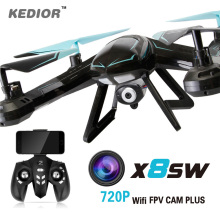 Kedior X8SW remote control rc helicopter quadrocopter drone fpv camera 720P wifi or 1080P HD camera drones UAV for sale