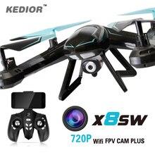 Kedior X8SW remote control rc helicopter quadcopter drone fpv camera 720P wifi or 1080P HD camera drones UAV