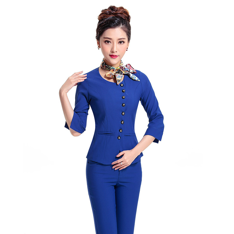Summer OL Women Business Suits Formal Office Work Pants