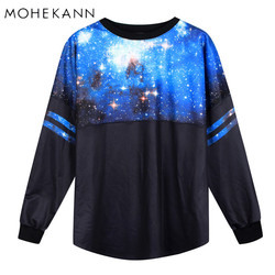2017 women hoodies galaxy space sweatshirt 3d print outerwear winter casual tops o neck batwing sleeve.jpg 250x250