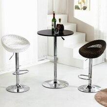 Простой Европейский стиль мода высокого качества барный стул из ротанга lifing стул стул мягкая удобная эргономичная спинка кресла
