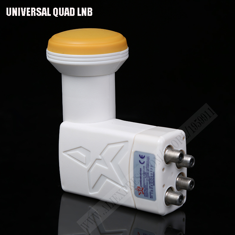 Full HD-Digital-Universal-Lnb-Qualität geräuscharm Universal-Ku-Band-Quad-Lnb High Gain wasserdicht lnbf Satelliten-TV-Tuner
