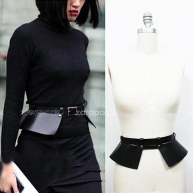 La marca del diseñador Chic genuino pista de cuero cinturón corsé ancho estilo correa del abrigo envío gratis