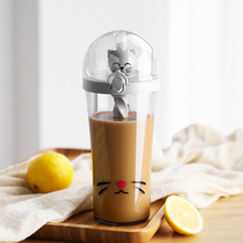 500ml Shaker Water Bottle Portable Sports Bottle with Straw Plastic Flask for Water Tumbler Yellow Duck BPA Free цена и фото