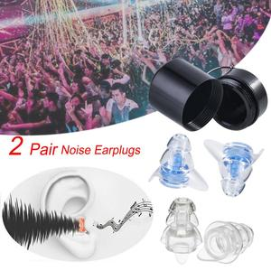 Image 1 - 2 Pairs Noise Reducation Earplugs With Case Hearing Protection Ear plugs For Sleeping Study Travel Concert Motor Sport Mini Plug