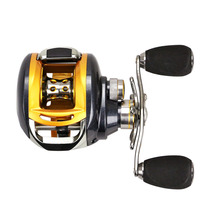 Mini Durable Gear Ratio 6.2:1 Ball Bearing 12+1BB Baitcasting Reel Water Drop Wheel Force Knob Fish Line Reel for Left Hand