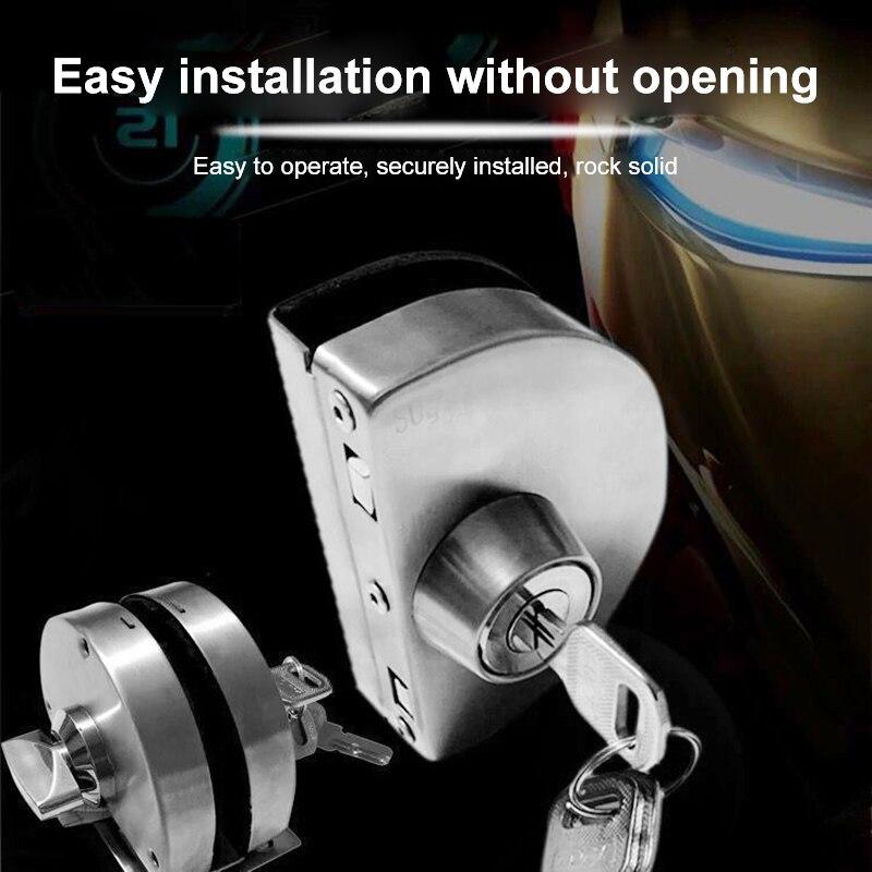 Stainless Steel 10 12mm Glass Door Security Lock Double ...