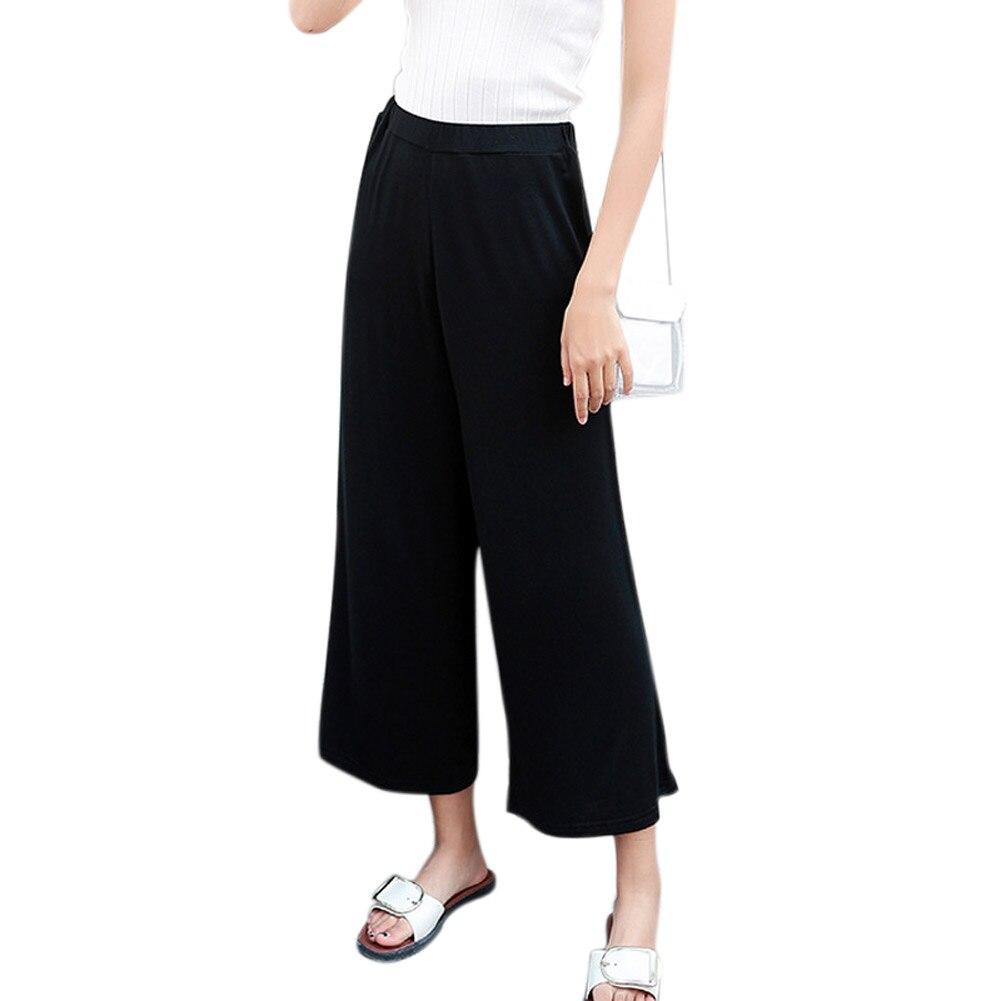 Women Elastic   Wide     Leg     Pants   Trouser for Office Workout -MX8