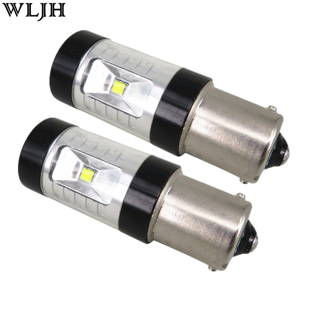 WLJH 2x 30W 1156 BA15S 7506 LED S25 P21W XBD Led Chips Canbu Bulbs DRL Daytime Running Lights For Audi Q7 A1 A3 A4 A6 S3 Rs4 S4 ruiandsion 2x75w 900lm 15smd xbd chips red error free 1156 ba15s p21w led backup revers light canbus 12 24vdc