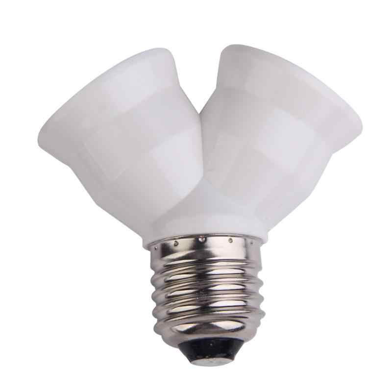 Creative E27 Extend Base Light Lamp Bulb Lamp Holder Bulb Holder Dual Double Halogen Light Lamp Copper Contact Adapter Converter