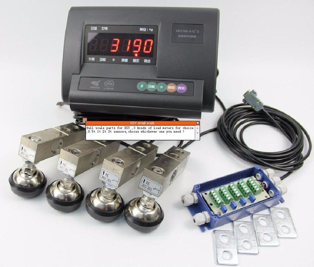 DIY petite échelle ensemble complet accessoires charge mètre (anglais version sans batterie) + capteur de charge XK3190-A12 + E