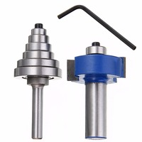 1pc 1 2 Shank Carbide Rabbet Router Bit With 6 Bearings Set And Wrench For Woodworking