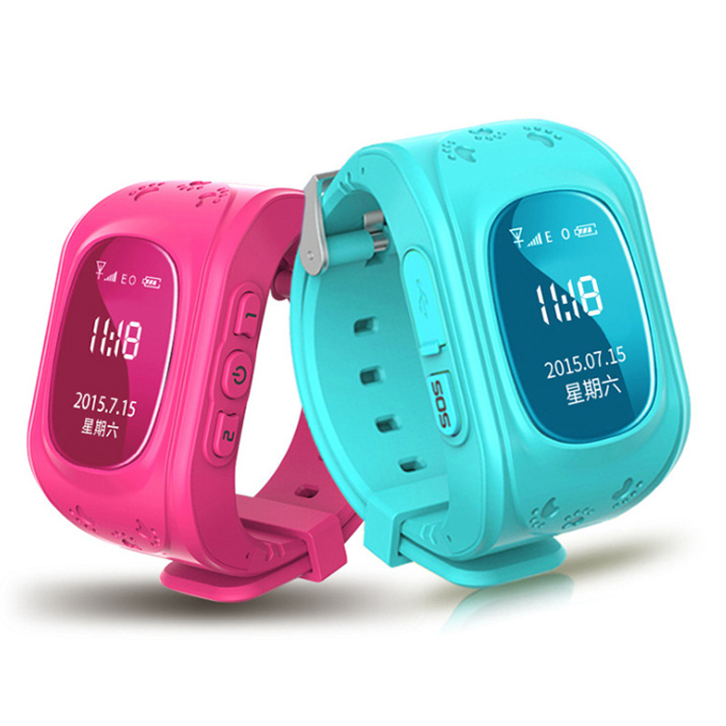 8 colors GPS Tracker Watch OLED Q50 for Kids SOS Emergency Anti Lost GSM Smart Phone Setracker APP for Android iOS