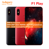 UMIDIGI F1 Play 6.3'' Android 9.0 4G Smartphone Helio P60 Octa Core 2.0GHz Mali G72 MP3 6GB 64GB Fingerprint 5150mAh Cellphone