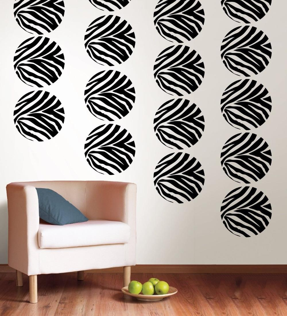 ZEBRA GO WILD DOTS 4 BiG Wall Decals Room Decor Stickers ANIMAL PRINT Polka  Spot(
