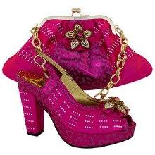 สีแดงม่วงCP63001จัดส่งฟรี!!มาใหม่รองเท้าอิตาลีจับคู่กับกระเป๋าคุณภาพสูงสำหรับการจัดงานแต่งงานของบุคคลที่อิตาลีรองเท้าและกระเป๋า.