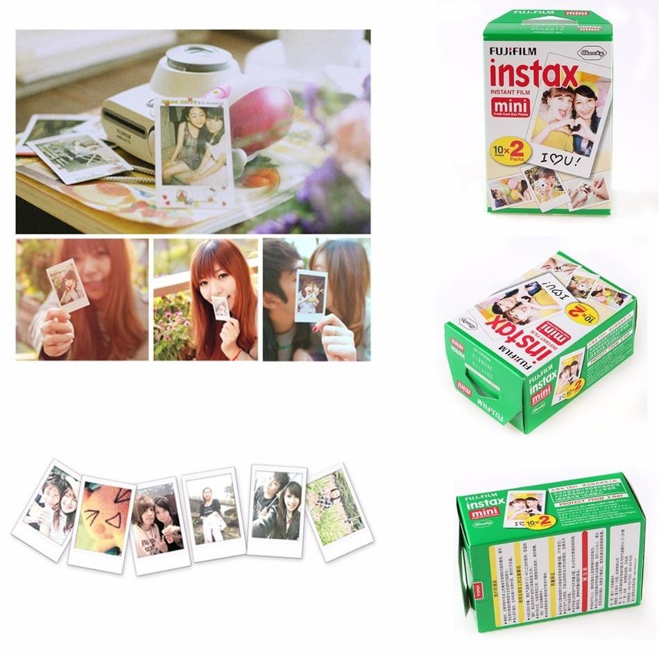 20*10 sheets Fujifilm Instax Mini film for Instant Camera mini 8 7s 25 50s 90 White Edge 3 inch film Photo Paper