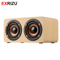 EARVO W5 Wood Boombox Wooden Box Wireless Bluetooth Speaker 10W High Power Subwoofer 2000mAh Battery Support