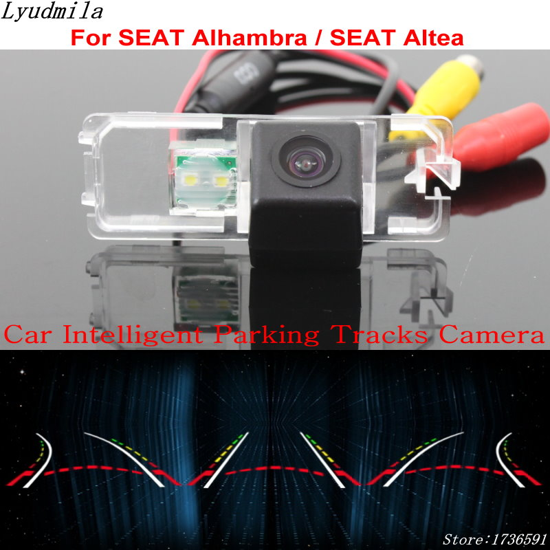 Lyudmila Car Intelligent Parking Tracks Camera FOR SEAT Alhambra / SEAT Altea / HD Car Back up Reverse Camera Rear View Camera lyudmila car intelligent parking tracks camera for hyundai creta ix25 2014 2017 hd back up reverse car rear view camera