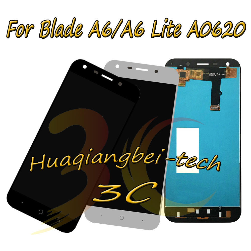 5.2'' New For ZTE Blade A6 / Blade A6 Lite A0620 A0621 Full LCD DIsplay + Touch Screen Digitizer Assembly Black / White / Gold