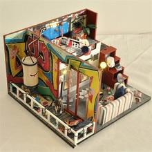 Cute Families House DIY 3D Wood Puzzles Final Fantasy Miniature Dollhouse Toys for Children Kids Toys Juguetes Brinquedos cute families house miniature dollhouse slow time loft villa wood diy dollhouse valentine gift kids toys for children