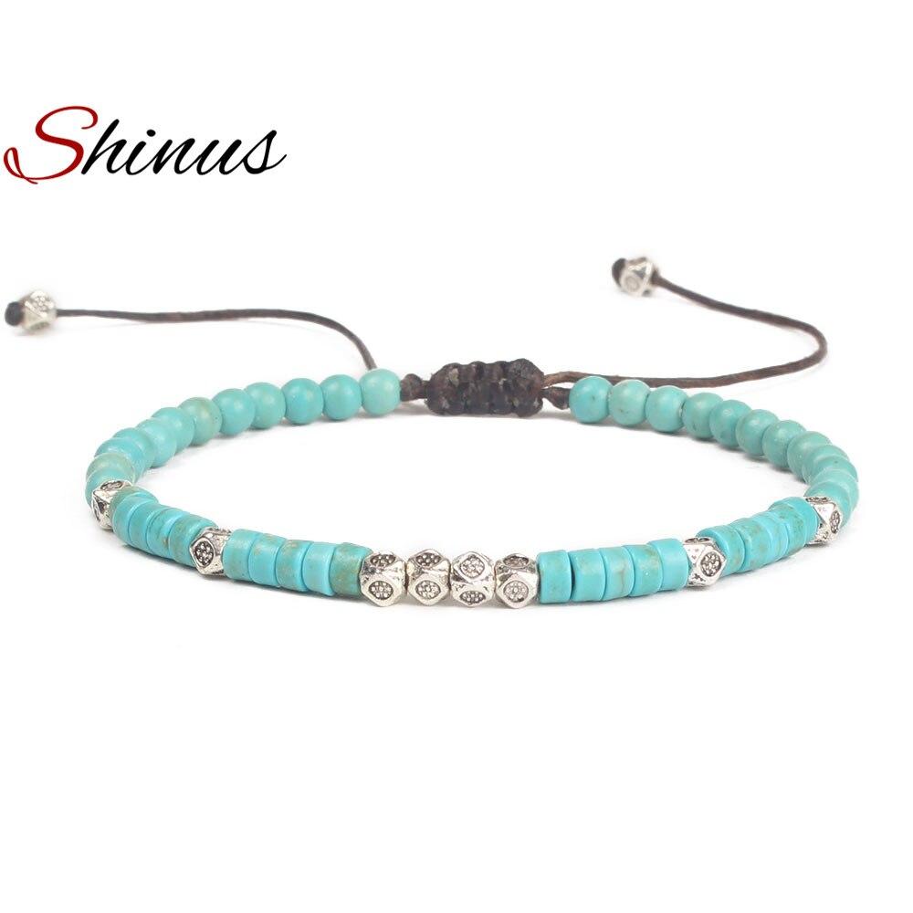 Shinus Chakra Bracelets Women Bohemia Jewelry Bracelet Meditation Natural Stone Bead Handmade Bijoux Femme Boho Friendship Gifts