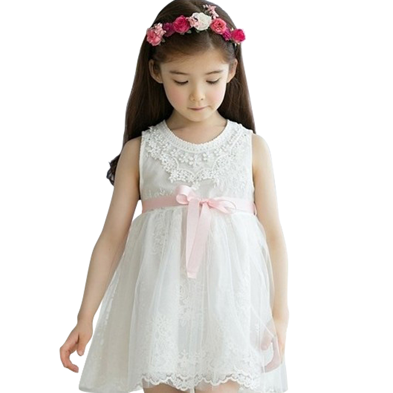 2018 Kids Flower Girls Evening Dress Children Summer Clothes Tutu Dresses for Wedding Party Baby Girl Lace Princess, Pink/White new fancy dress formal evening wedding gown tutu princess dress flower girls children clothing kids party dress for girl clothes