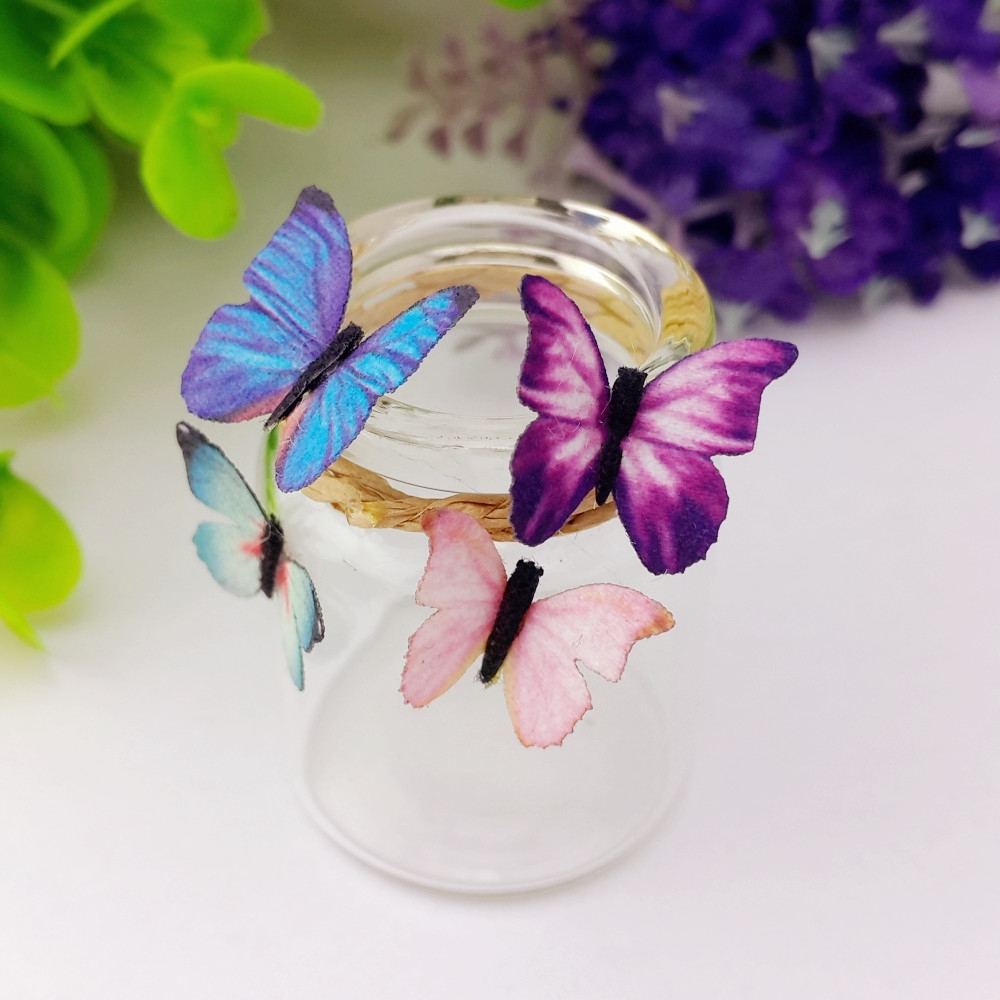 10pieces 18mm mixed cloth Butterfly glass globe filler Clothing apparel accessories jewelry making component craft materia