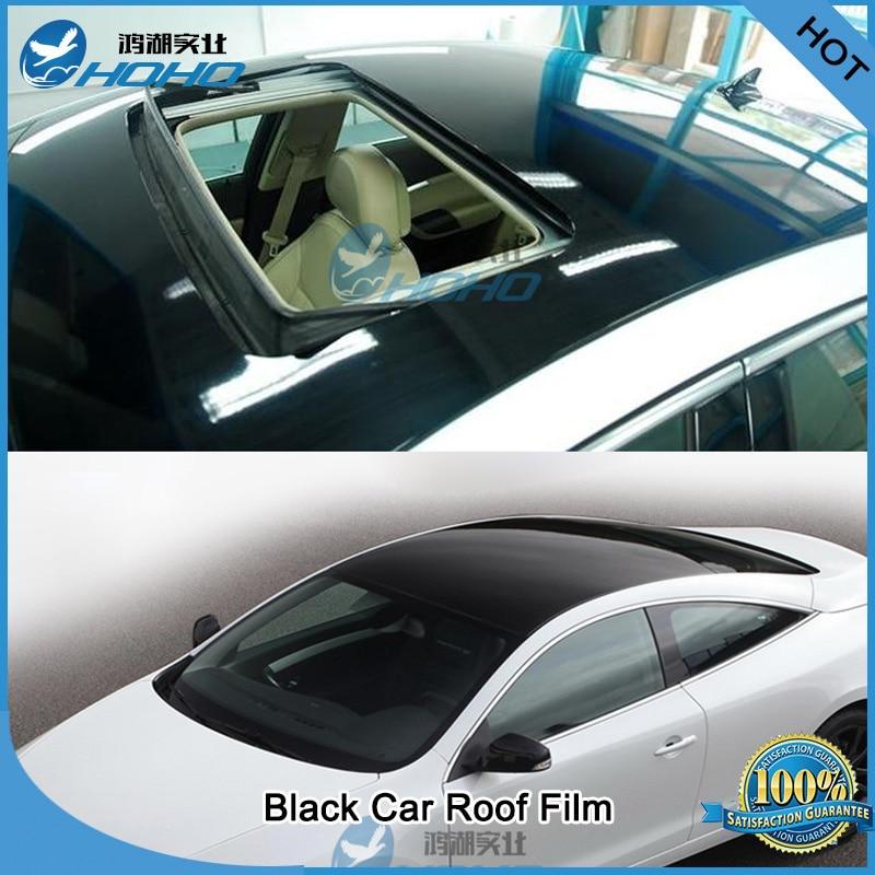 Black Gloss Vinyl Wrap Car Roof Film Sheet 1 35m X3m