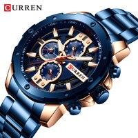 CURREN 2018 Новый Топ бренд класса люкс мужские модные кварцевые мужские наручные часы армейский Милитари спортивный часы Relogio Masculino