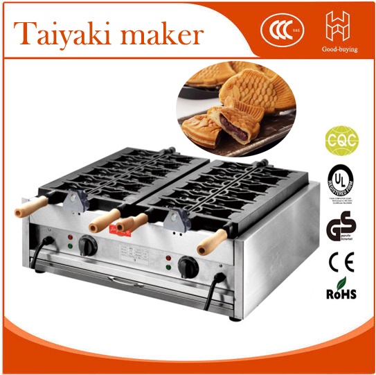 Whosale electric 12pieces Japanese Fish Taiyaki Baker  fish stuff donut maker 2 snack equipment