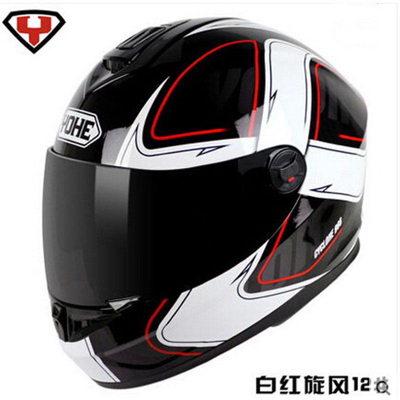 2017 fashion YOHE Full Face motorcycle helmet ABS motocross full cover motorbike helmets model YH-966  size M L XL XXL 2017 new ece certification ls2 motocross motorcycle helmet ff352 full face motorbike helmets made of abs and pc silver decadent
