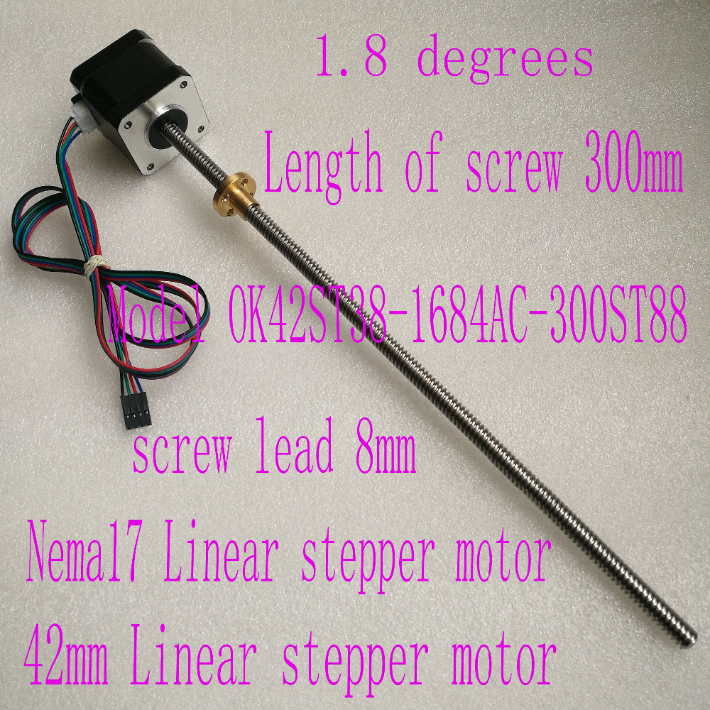 nema 17 Screw stepper motor OK42ST38 1684AC 300ST88 with Copper nut lead 8mm for font b