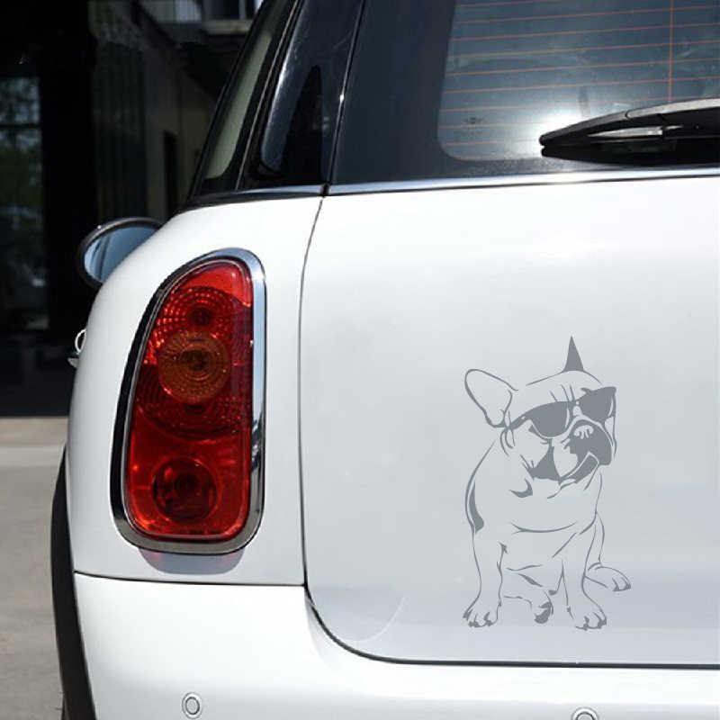 Buldogue francês portátil decalques para apple macbook ar/pro decoração, cão engraçado silhueta adesivo de vinil decalque da janela do carro decoração