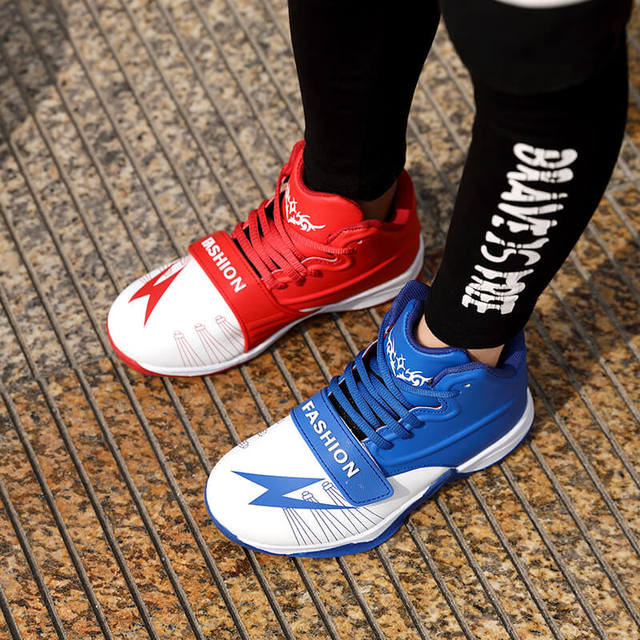 2018 Autumn New Style Two Tone Basketball Shoes For Kids Boys Girls