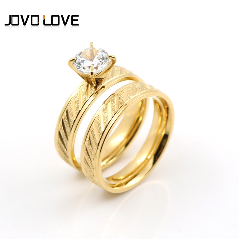 954961738fbcb Memorable Engagement Rings for Men Women Gold Rings Frosted design cubic  zircon Paved Gold Rings Promotion Sale