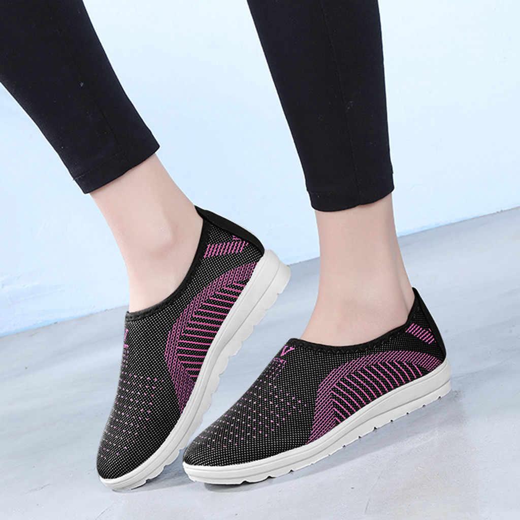 """Giày Nữ Lưới Phẳng, Thời Trang Dạo Phố Sọc Giày Cho Nữ Giày Mềm Mại Mùa Xuân Sneakers Nữ Zapatillas Mujer """"Кеды"""