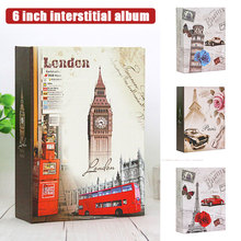 Organizer Photo Album PP 6 Inch DIY Anti-Lost Protective Cover Portable Save Picture Storage Large Capacity Cartoon Insert Type