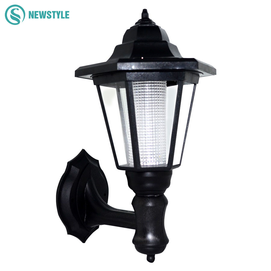 1led 0.5W Powered Wall Solar lamp Outdoor waterproof IP55 LED Solar light garden yard light White/warm white lawn lights css rechargeable waterproof solar powered 30 led spot light white lamp with lithium battery inside for lawn garden road hot