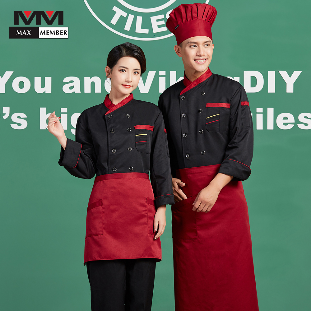 Unisex Long Sleeve Chef Cooking Jackets Catering Restaurant Hotel Waiter Work Uniforms Kitchen Cuisine Clothing Coat Overalls