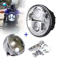 5.75 Inch Daymaker LED Round Motorcycle Headlight for for Harley Dyna Sportster 1200 883 5 3/4 Projector LED Moto Headlight.