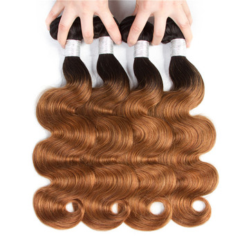 TOP Brazilian Body Wave Hair 3/4 Bundles Wet And Wavy Ombre Human Hair Weave Bundles 1B/30 Remy Hair Extensions Reasonable Price