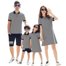 New Family Matching Outfits Mom and Daughter Dress Summer Polo T Shirt Mother Father Son Family Look Baby Mommy and Me Clothes family christmas clothes mother daughter father son t shirt family matching clothes mommy and me clothes family look outfit