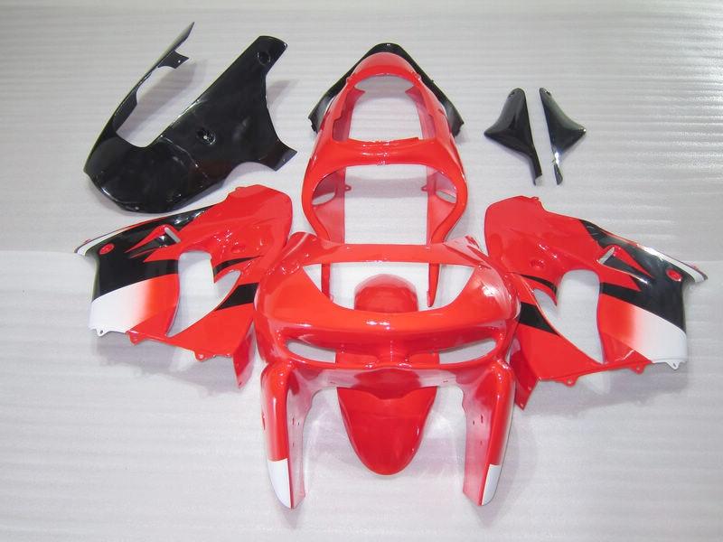 Full ABS plastic fairing kit for Kawasaki ZX9R 98 99 red black fairings set ZX9R 1998 1999 OT13