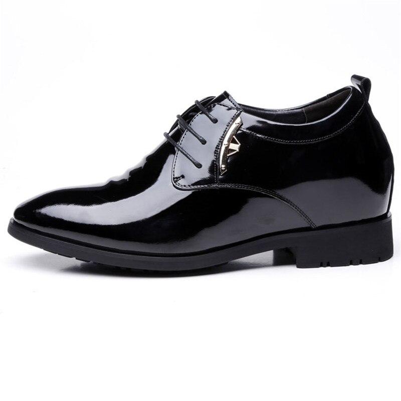 Aumento Formales Ascensor Llegada Los Zapatos Para Cm La Nueva De Altura Black Negro Hombres Taller Cuero 8 XxdTwX0qzn