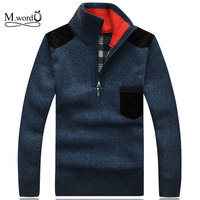 Winter 2014 New High Quality Wool Sweater Men Half A Turtleneck Sweater Men Long Sleeve Casual