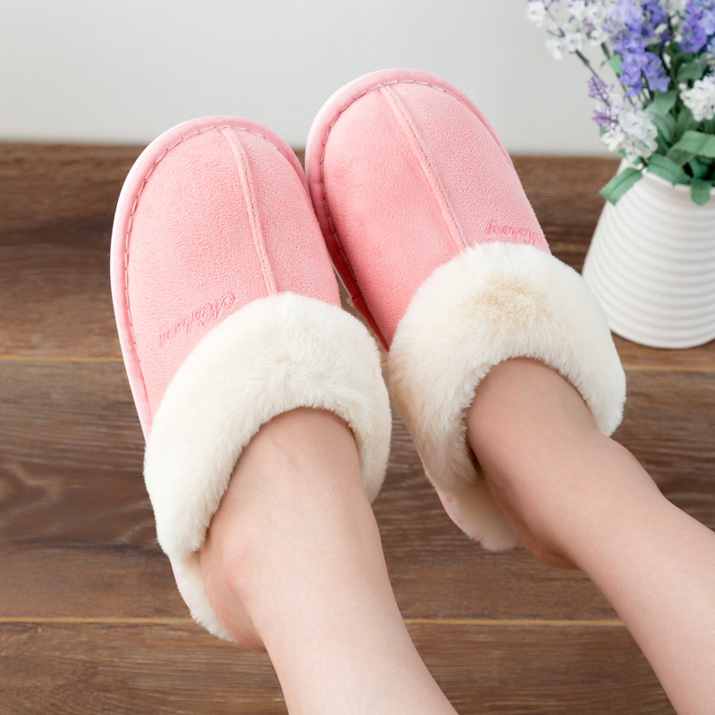 2018 Fashion Winter Women Slippers with Fur Casual Home Slippers House Female Ladies Wholesale Cotton Winter Women Shoes thu89 цены онлайн