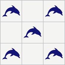 5 шт., 10 шт., 15 шт. Дельфин плитка наклейки ванная комната Морской Винил стены искусства автомобиля переводные наклейки