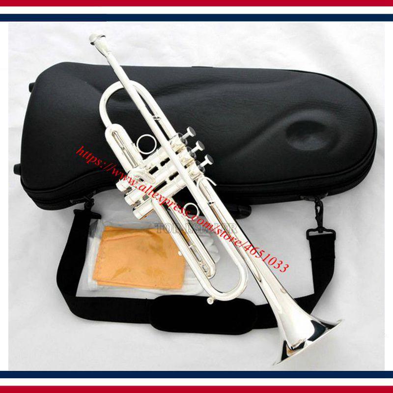 Nouvelle marque professionnelle trompette en argent nouvelle conception corne Monel valve avec étui
