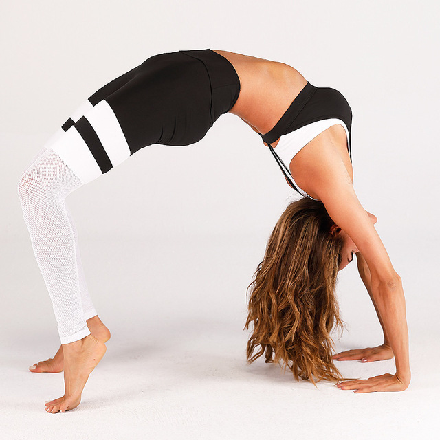 Mesh Patchwork Leggings Fitness 4